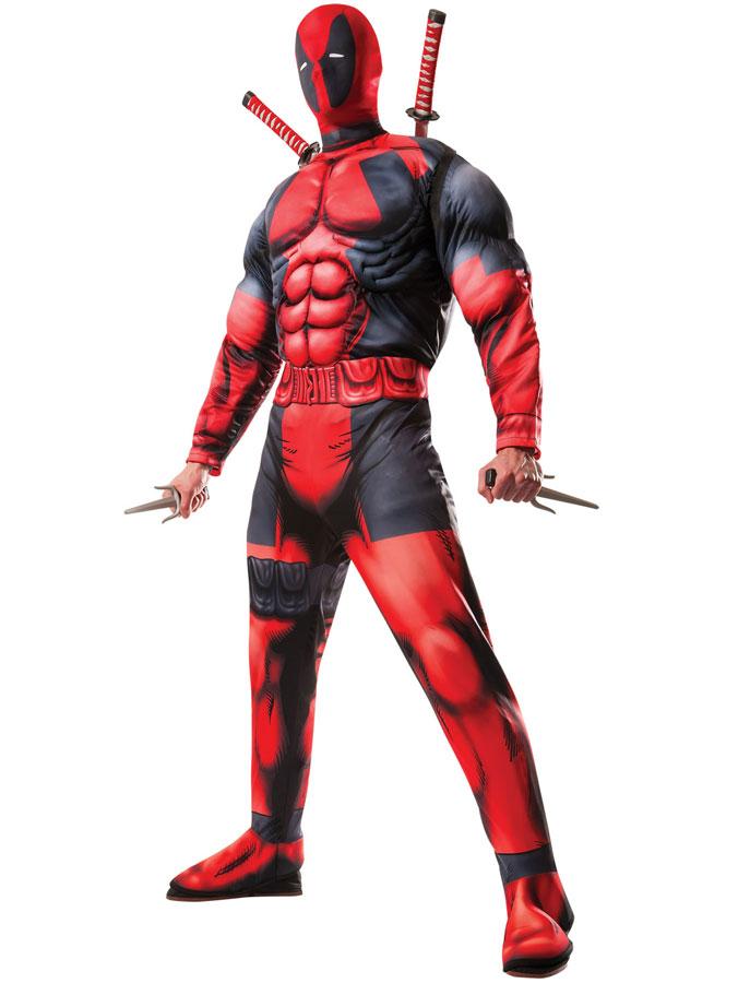 Maskeraddräkter - Marvel Deadpool Dräkt (Standard)
