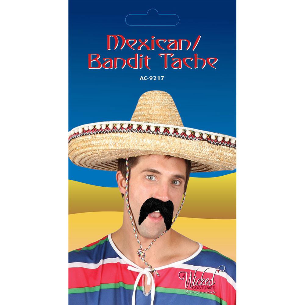 Mexikansk Mustasch Svart