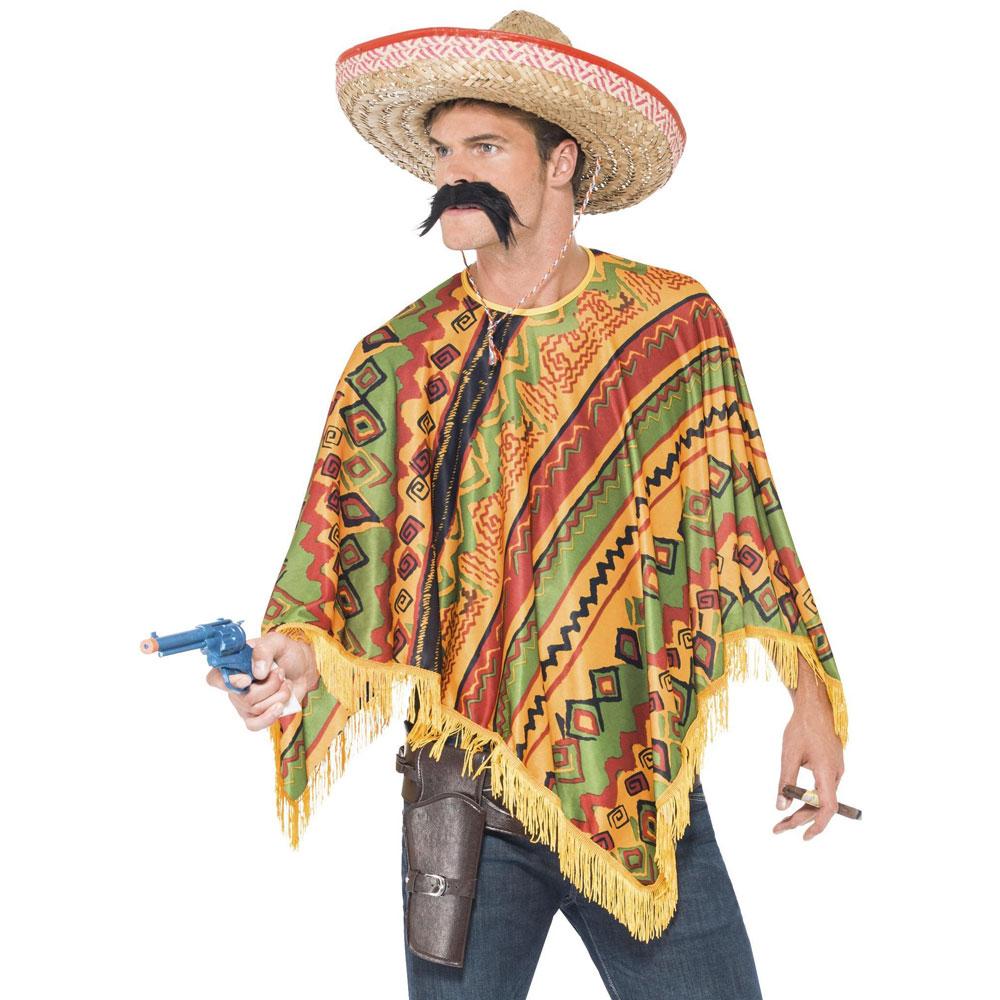 Mexikansk Poncho med Mustasch