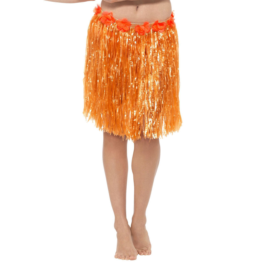 Neon Orange Hawaii Kjol