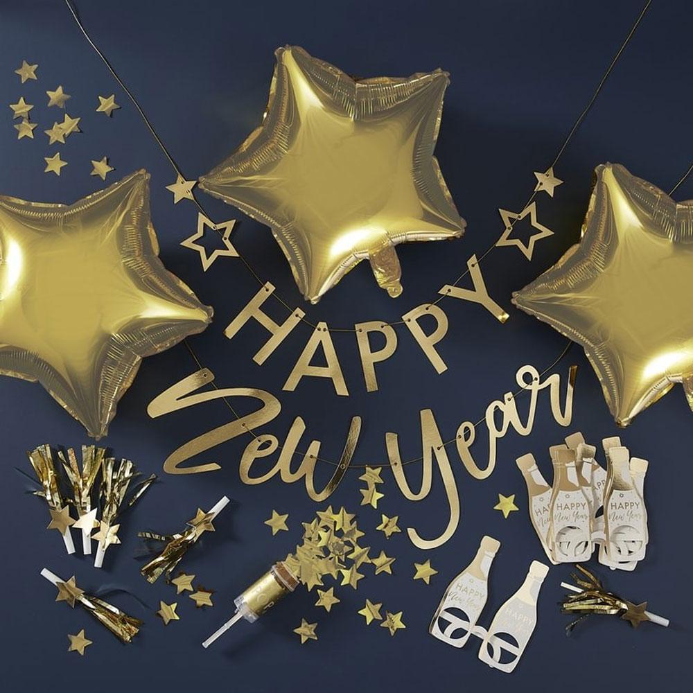 Nyårs Party Box Guld