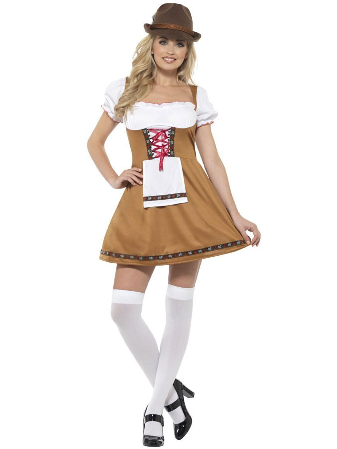 Oktoberfest Beer Maid Klänning (Small (str. 36-38))
