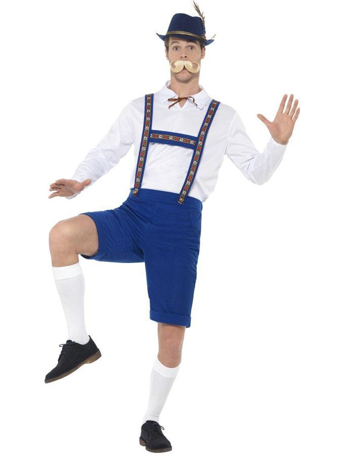 Oktoberfest Lederhosen Dräkt Blå