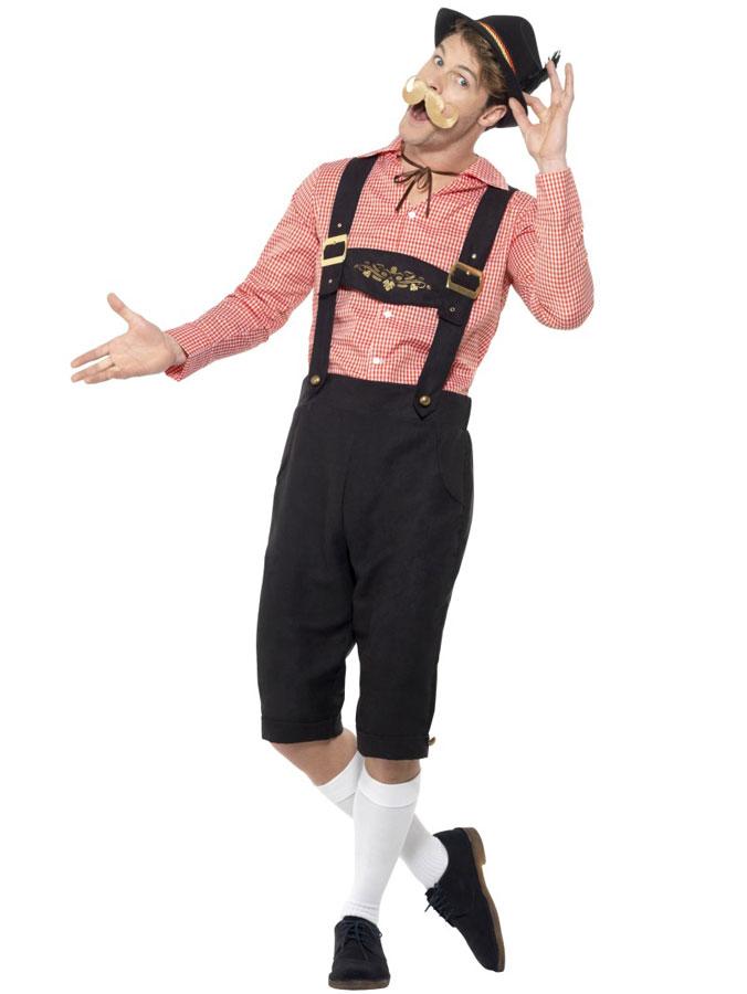 Oktoberfest Lederhosen Dräkt Fake Mocka