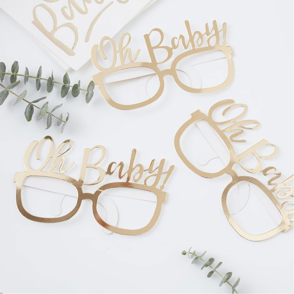 Pappersglasögon Oh Baby