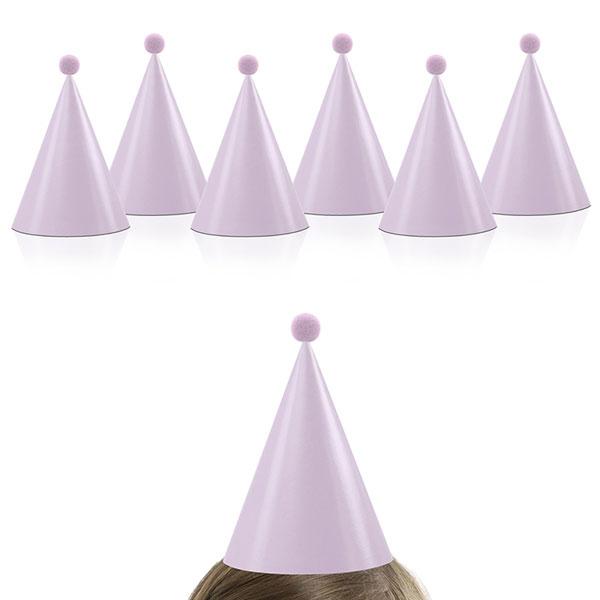 Partyhattar med Pom-Pom Barn Rosa