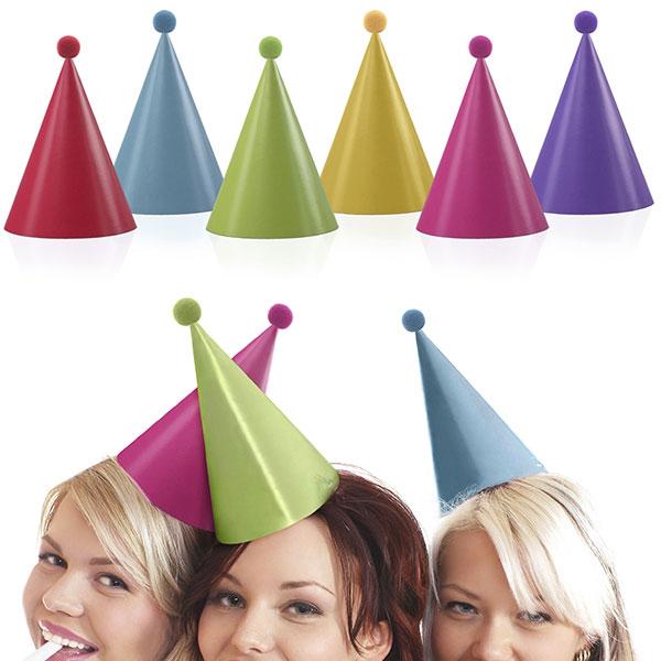 Partyhattar med Pom-Pom Flerfärgade
