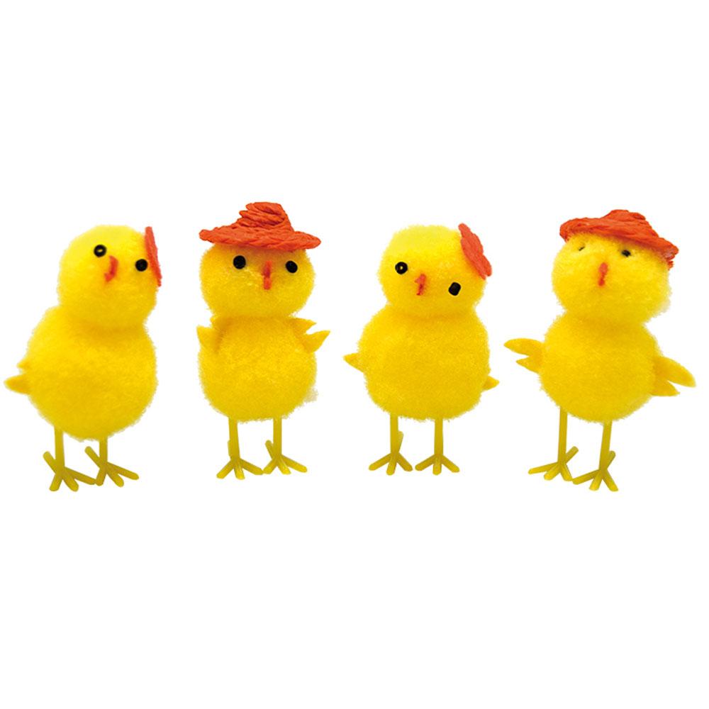 Påskkycklingar med Hattar