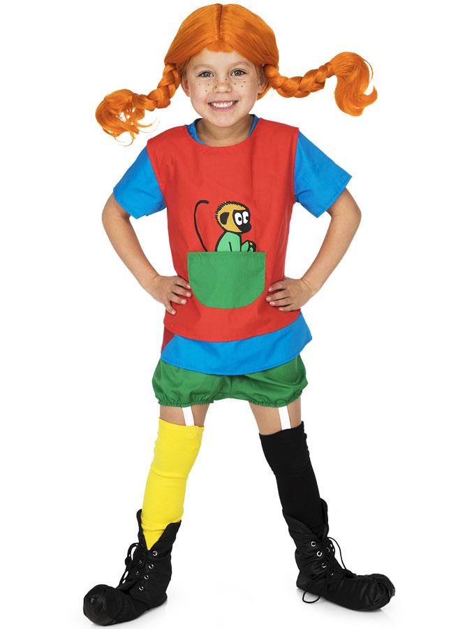 Pippi Långstrump Dräkt Röd Barn (Small (2-4 år))