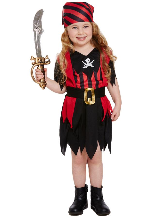 Pirat Flicka Maskeraddräkt Barn