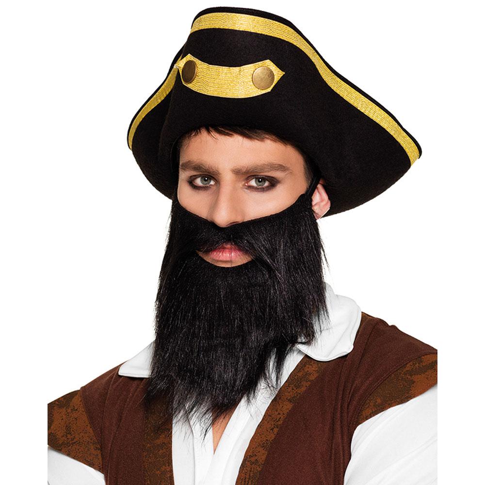 Pirat Skägg Svart