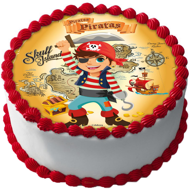 Pirat Tårtbild A