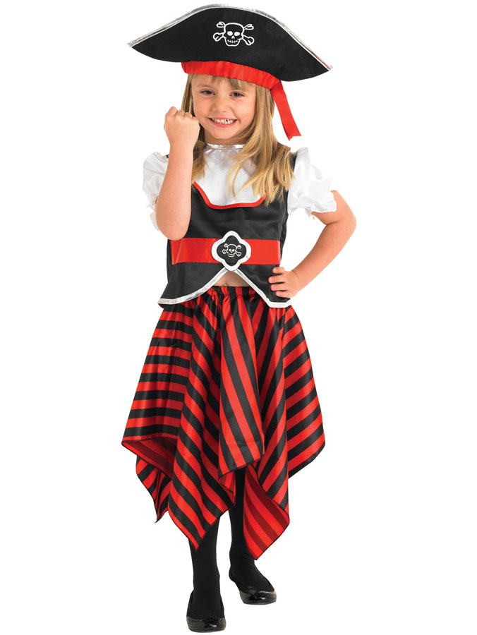 Piratdräkt Barn Flicka (Small (3-4 år))