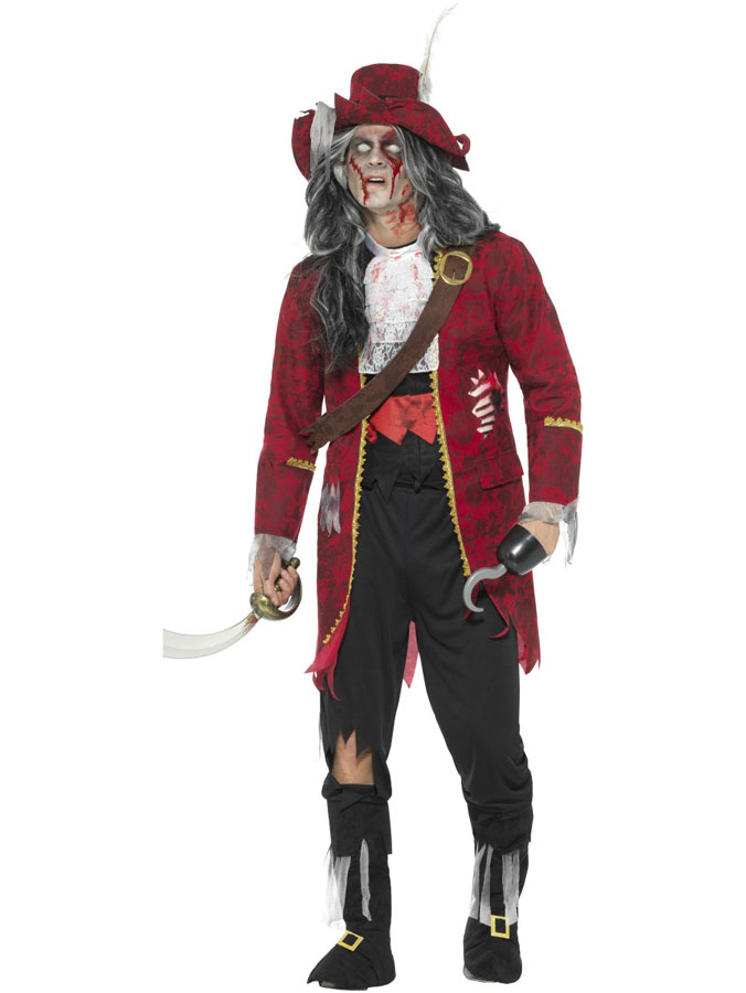 Piratdräkt Zombie Deluxe (Medium)