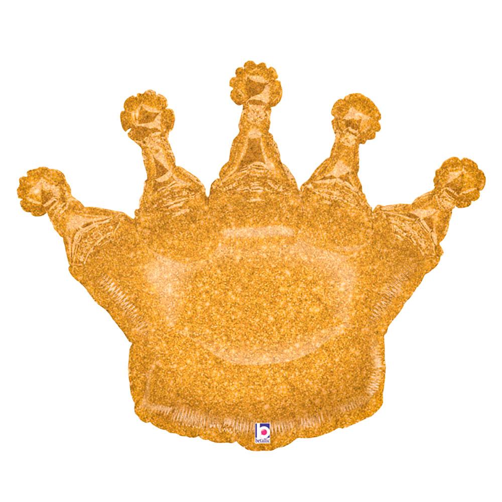 Prinsesskrona Holografisk Glitter Ballong