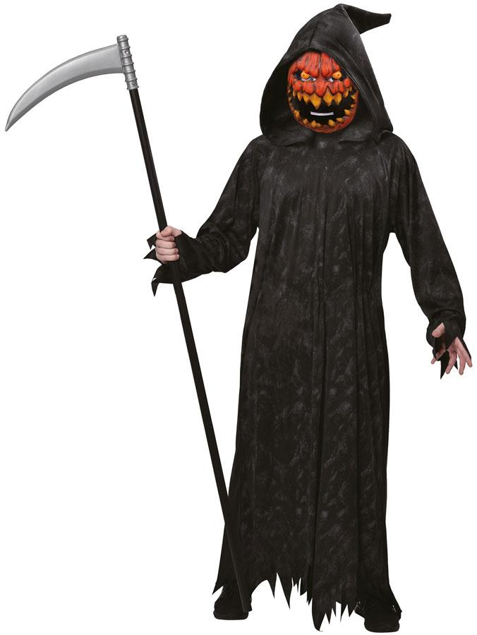 Pumpkin Reaper Dräkt Barn (Small (5-6 år))