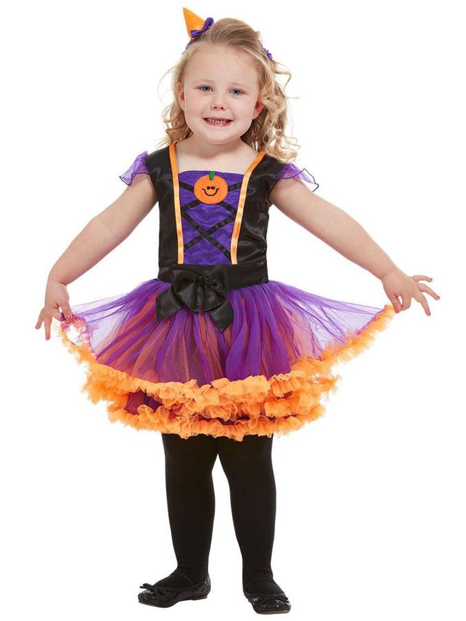 Pumpkin Witch Maskeraddräkt Barn (T1 (1-2 år))