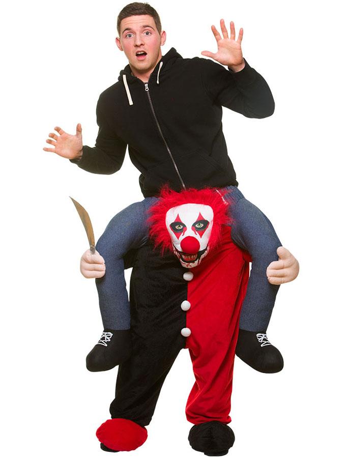 Ridande Clown Maskeraddräkt