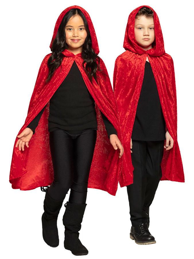 Röd Mantel med Huva Barn