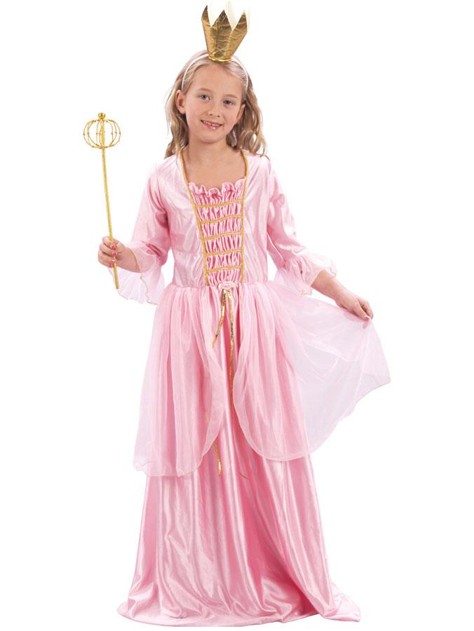 Rosa Prinsessklänning med Krona Barn (Small (92-104 cm))