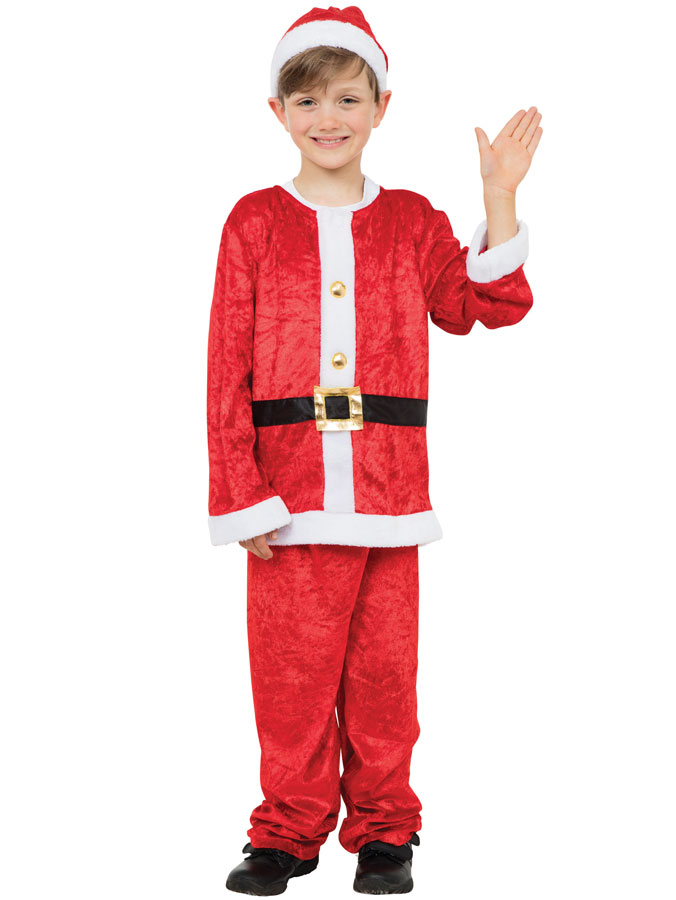 Santa Boy Tomtedräkt Barn (Small (4-5 år))