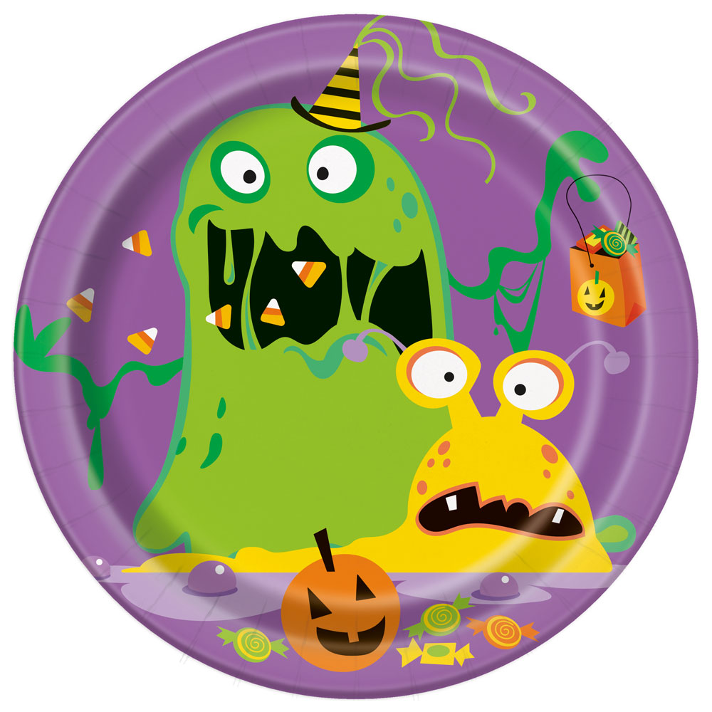 Silly Halloween Monsters Assietter