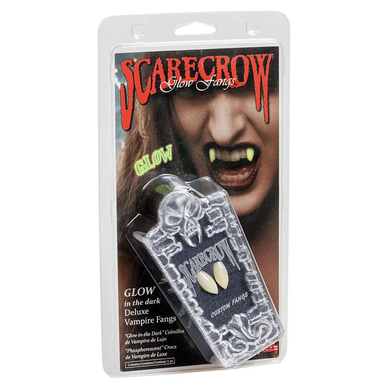 Självlysande Scarecrow Vampyrtänder Deluxe