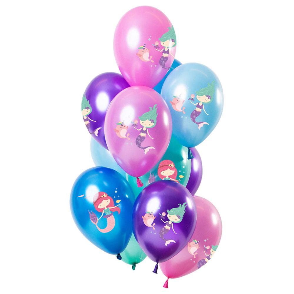 Sjöjungfru Metallic Latexballonger