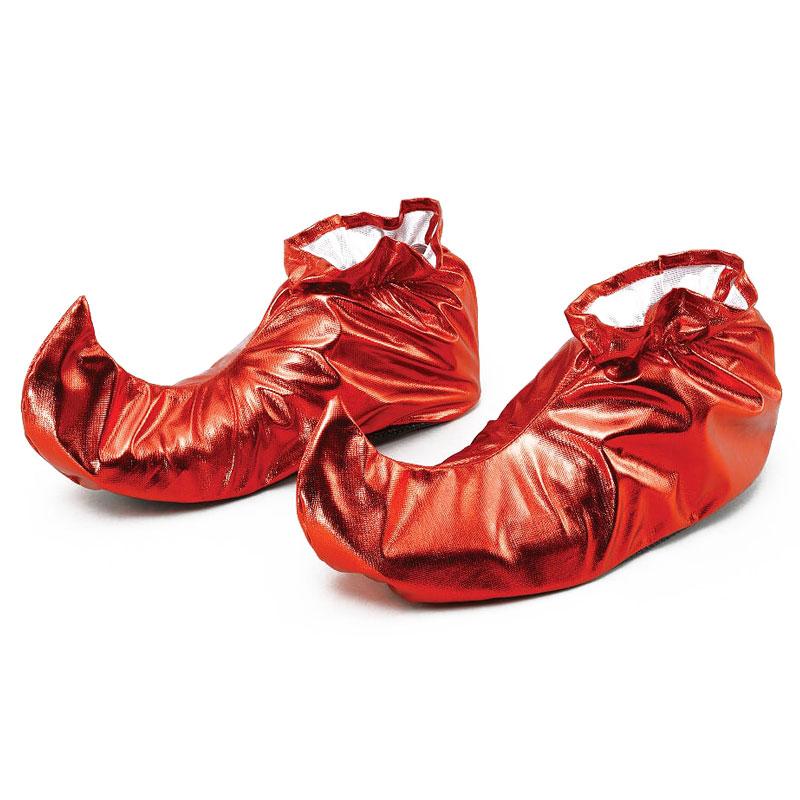 Skoöverdrag Metallic Röd