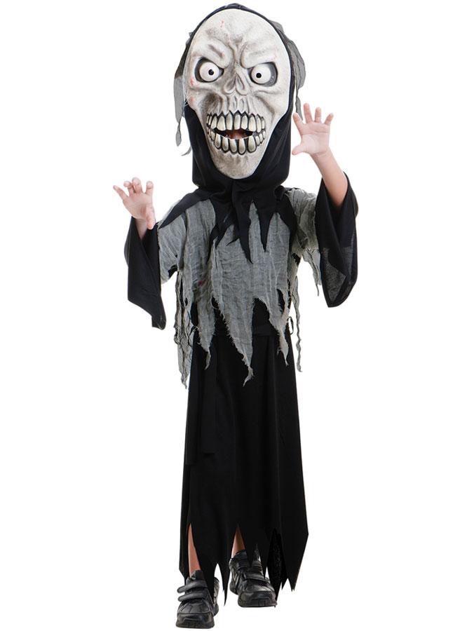 Skrämmande Demon Dräkt Barn (Medium (8-10 år))