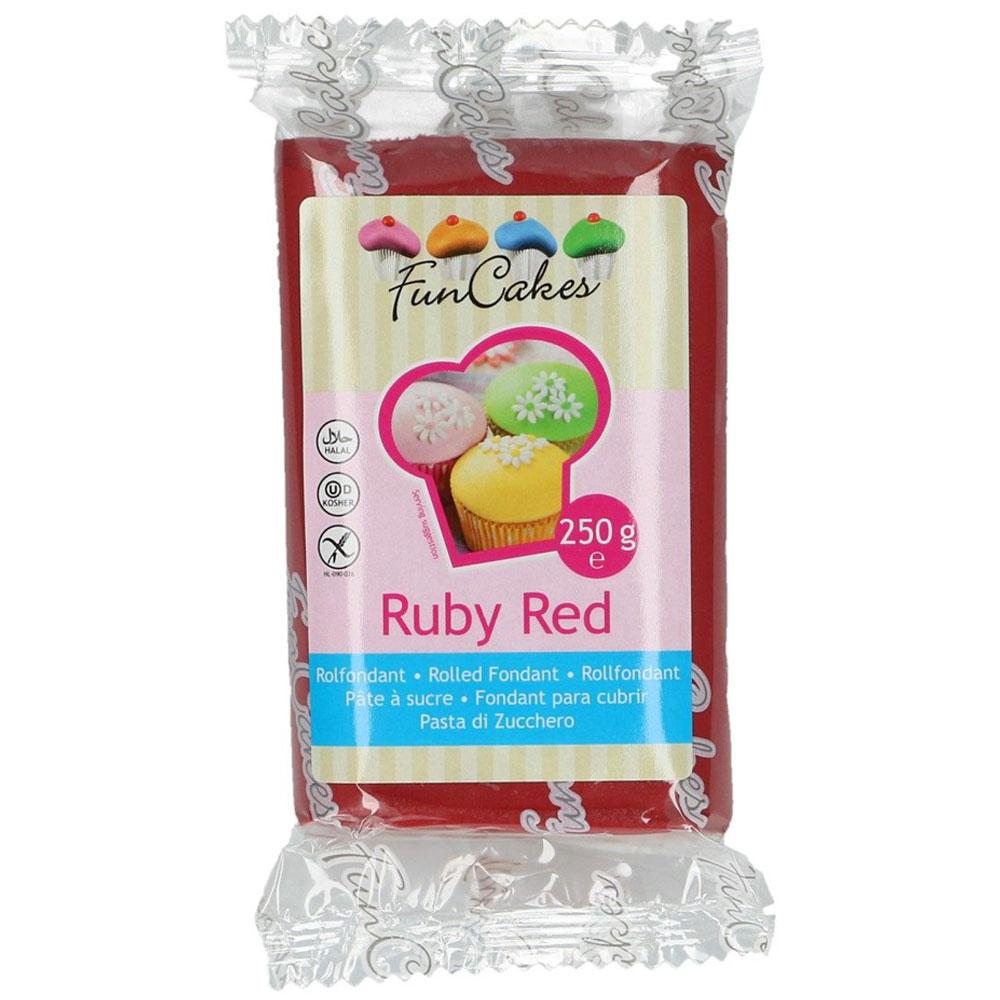 Sockerpasta Ruby Red 250 g