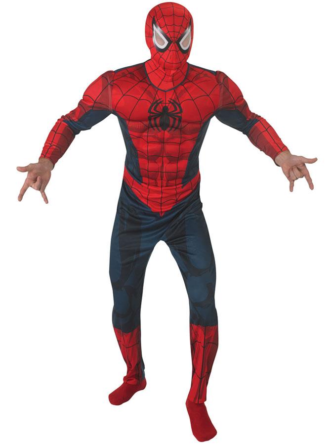 Spiderman Dräkt med Muskler (Standard)