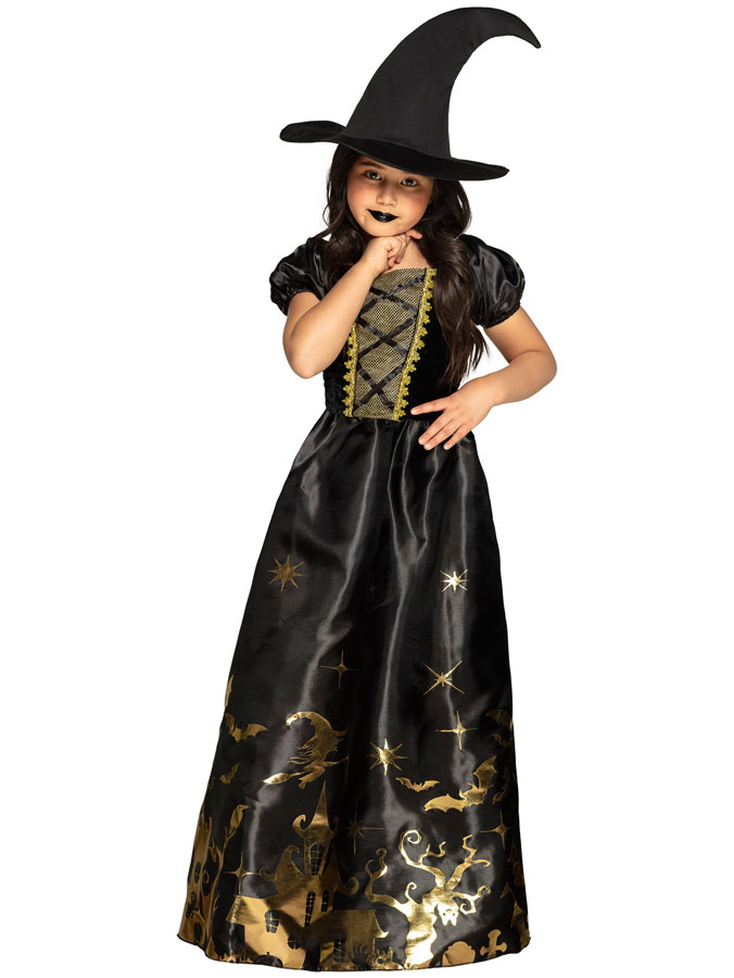 Spooky Witch Maskeraddräkt Barn (Small (4-6 år))