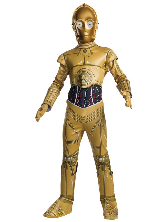 Star Wars C-3PO Maskeraddräkt Barn (Small (3-4 år))