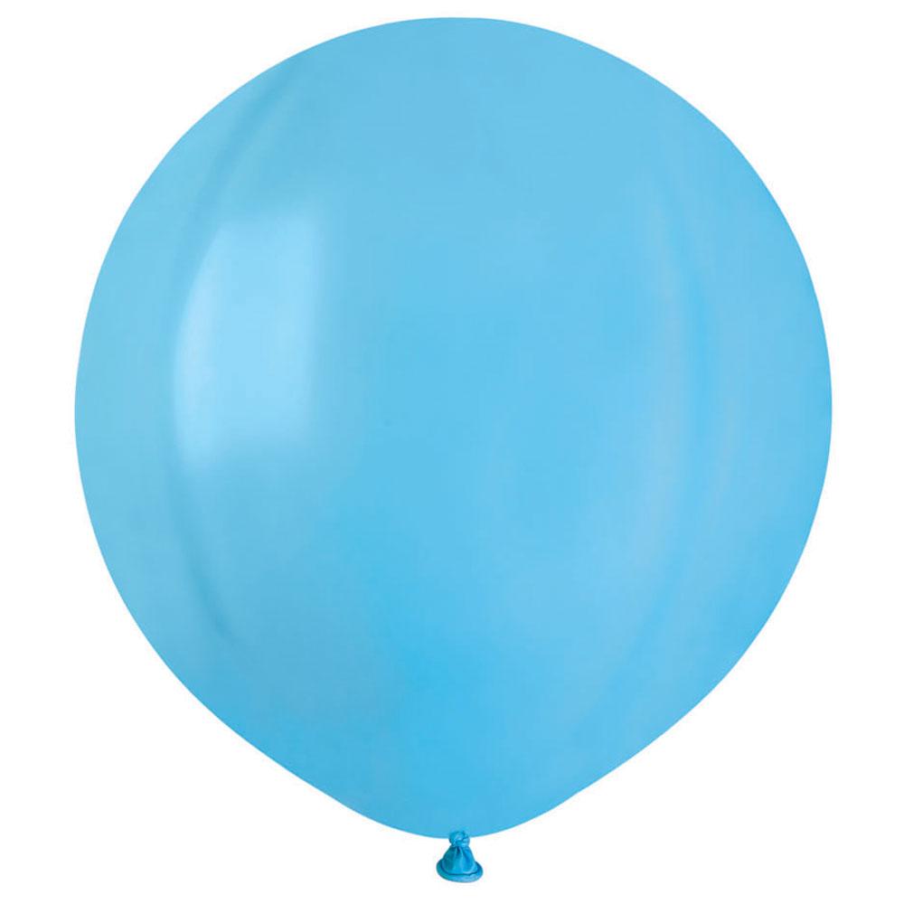 Stora Runda Ljusblå Ballonger (10-pack)