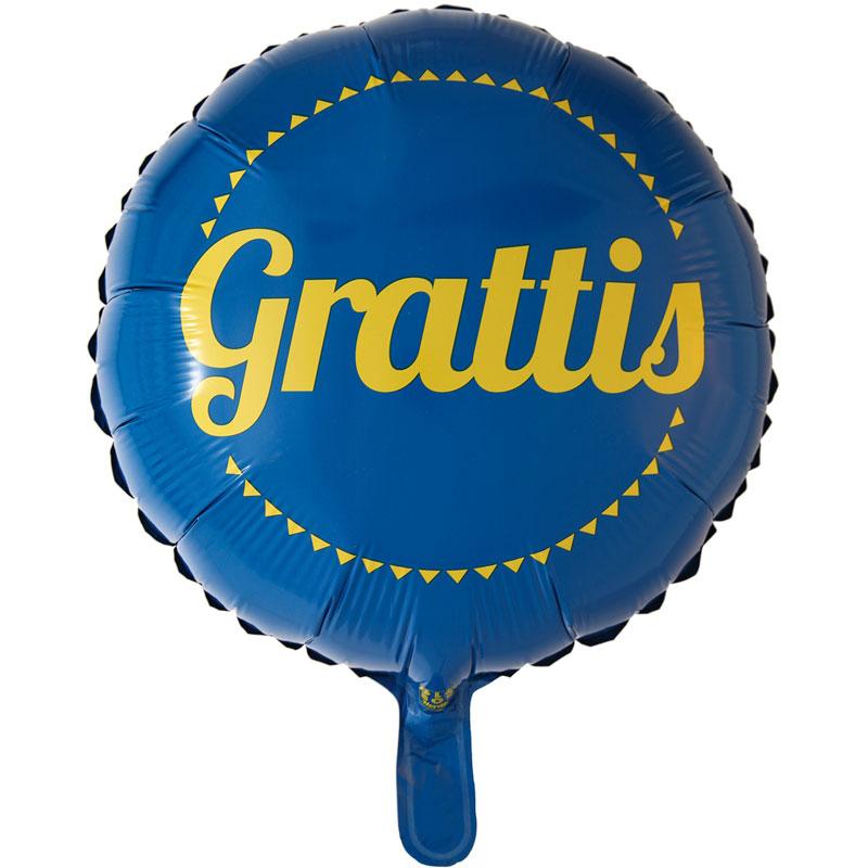 Studentballong Grattis Folie