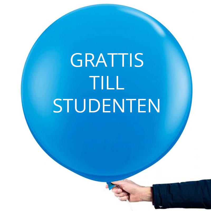 Studentballong Stor Blå