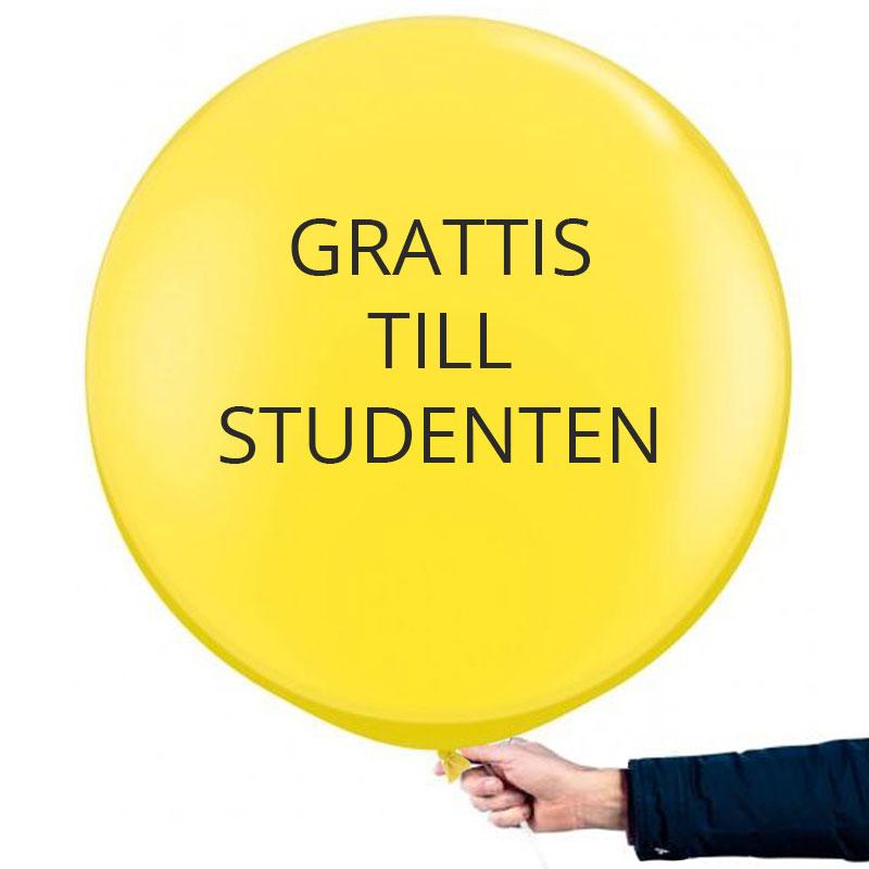 Studentballong Stor Gul