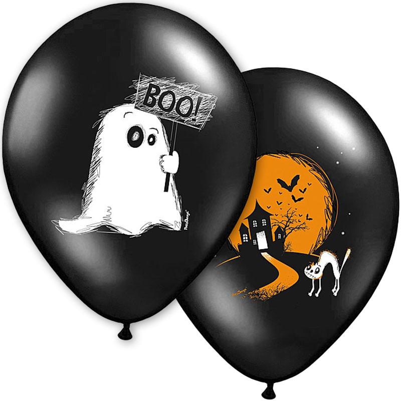 Svarta Halloween Ballonger