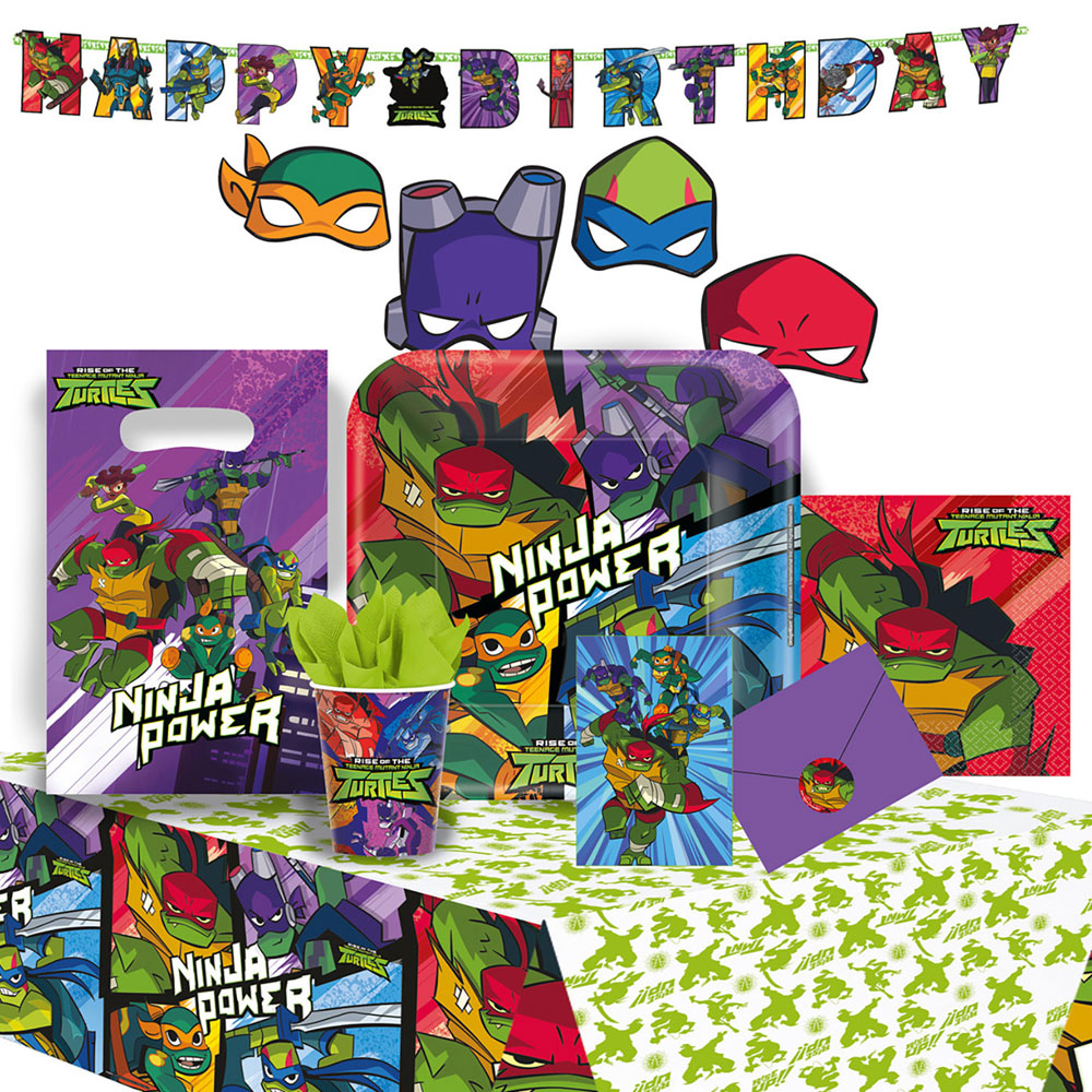 Teenage Mutant Ninja Turtles Kalaspaket Deluxe 8 Pers