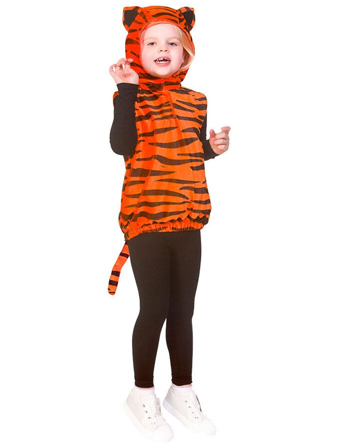 Tigerdräkt med Luva Barn