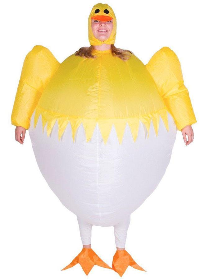 Kyckling-produkter - Uppblåsbar Nykläckt Kyckling Maskeraddräkt