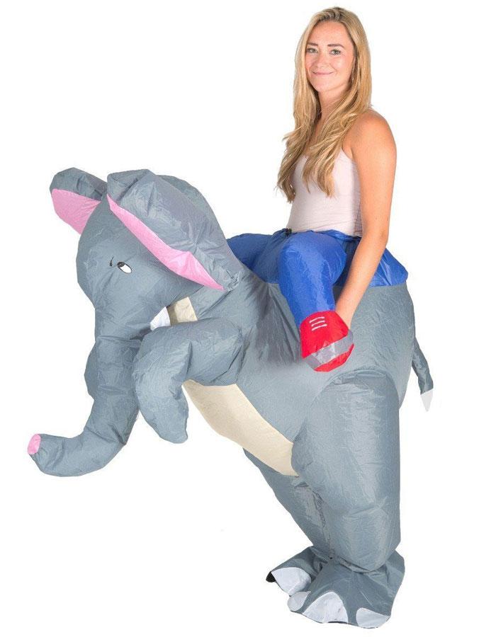 Uppblåsbar Ridande Elefantdräkt