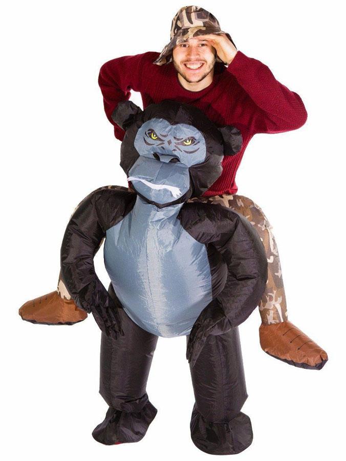 Uppblåsbar Ridande Gorilladräkt