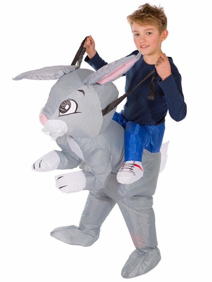 Uppblåsbar Ridande Kanindräkt Barn