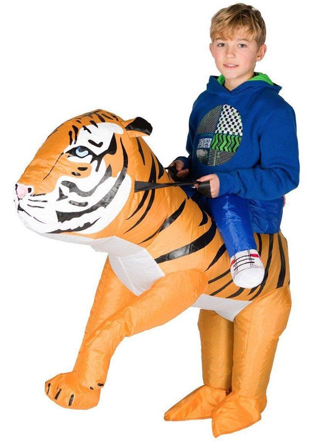 Uppblåsbar Ridande Tigerdräkt Barn
