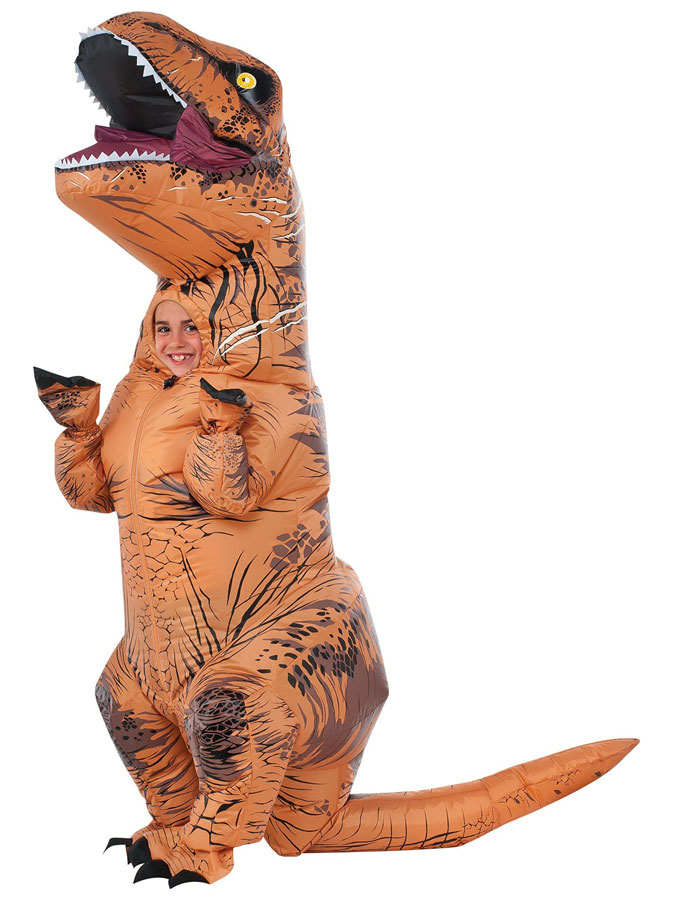 T-Rex dräkter - Uppblåsbar T-Rex Dräkt Barn