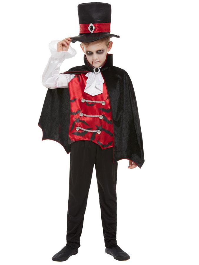Vampyr Maskeraddräkt Barn (Small (4-6 år))