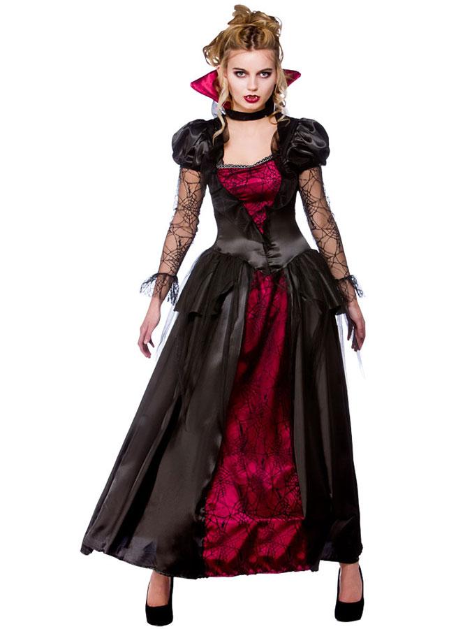 Vampyrklänning Drottning Maskeraddräkt (X-Small (str. 34-36))