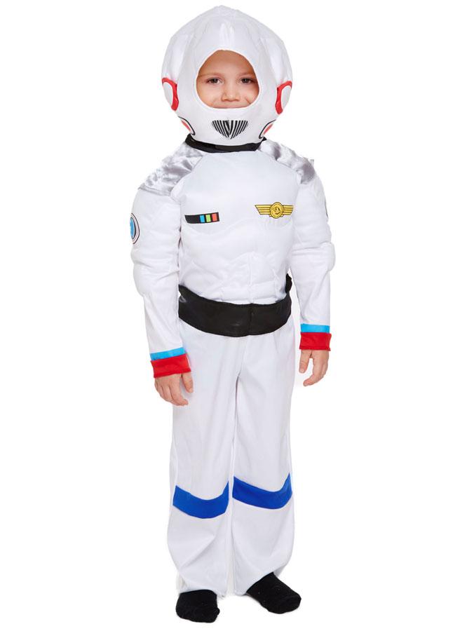 Vit Astronaut Maskeraddräkt Barn